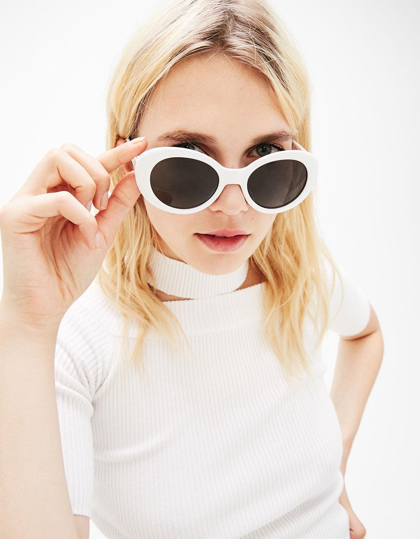 White vintage sunglasses
