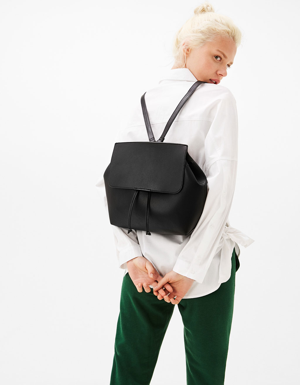 Wide minimalist backpack