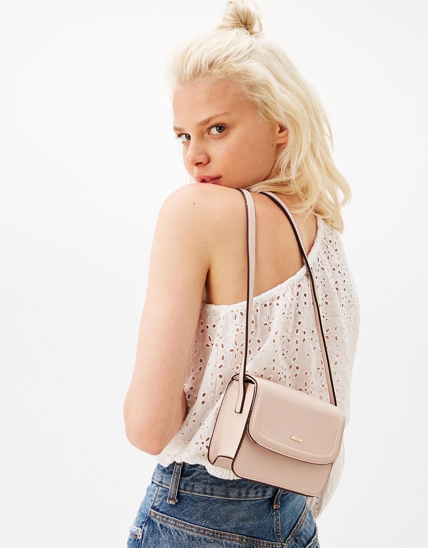 Mini textured handbag