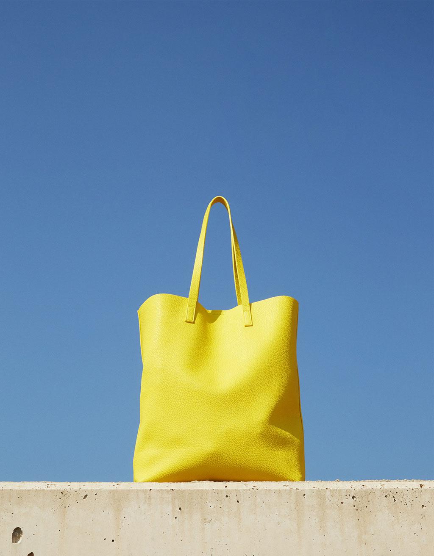 Bolso shopper textura