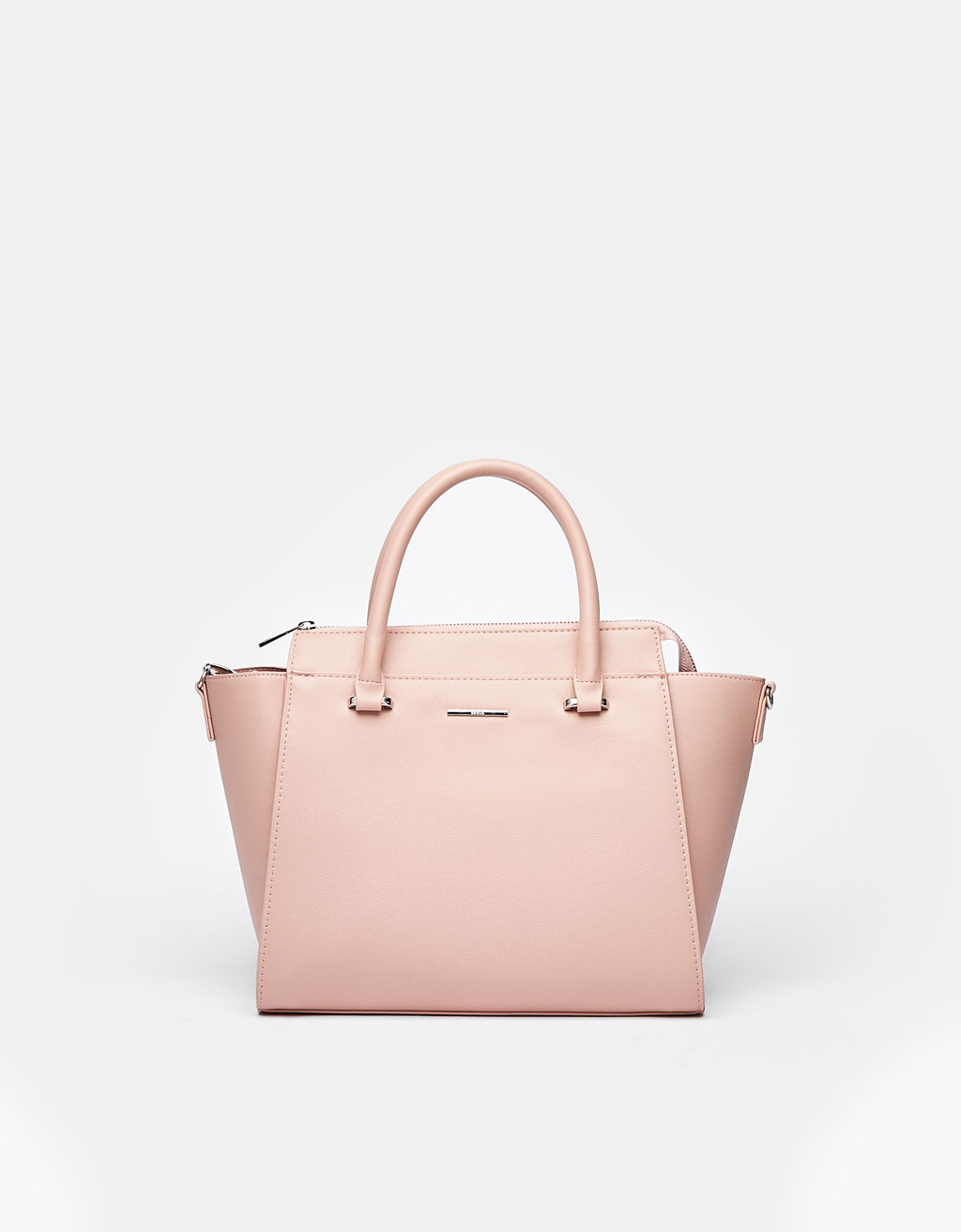 Medium tote bag with zip