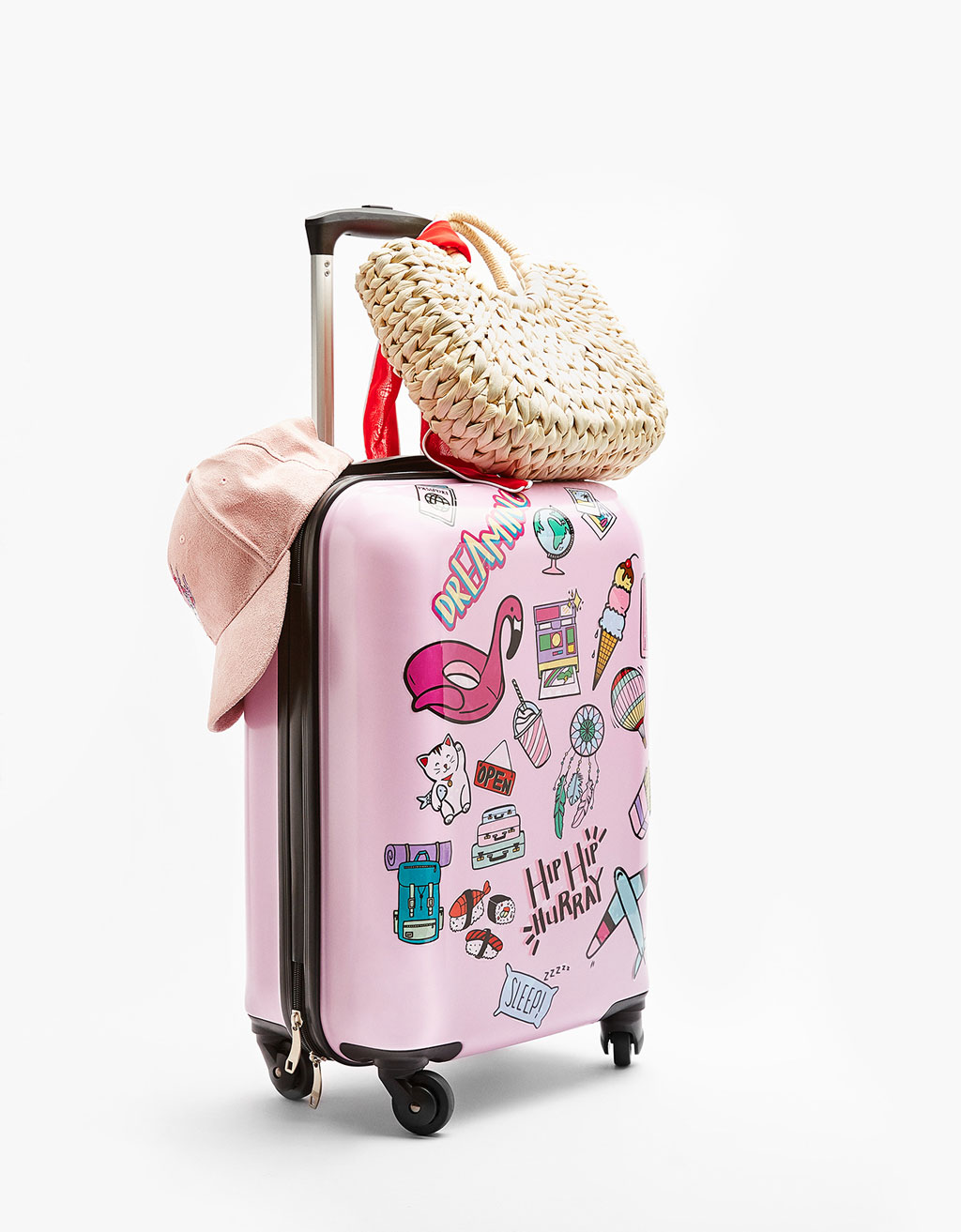 Customisable Travel Suitcase with Stickers