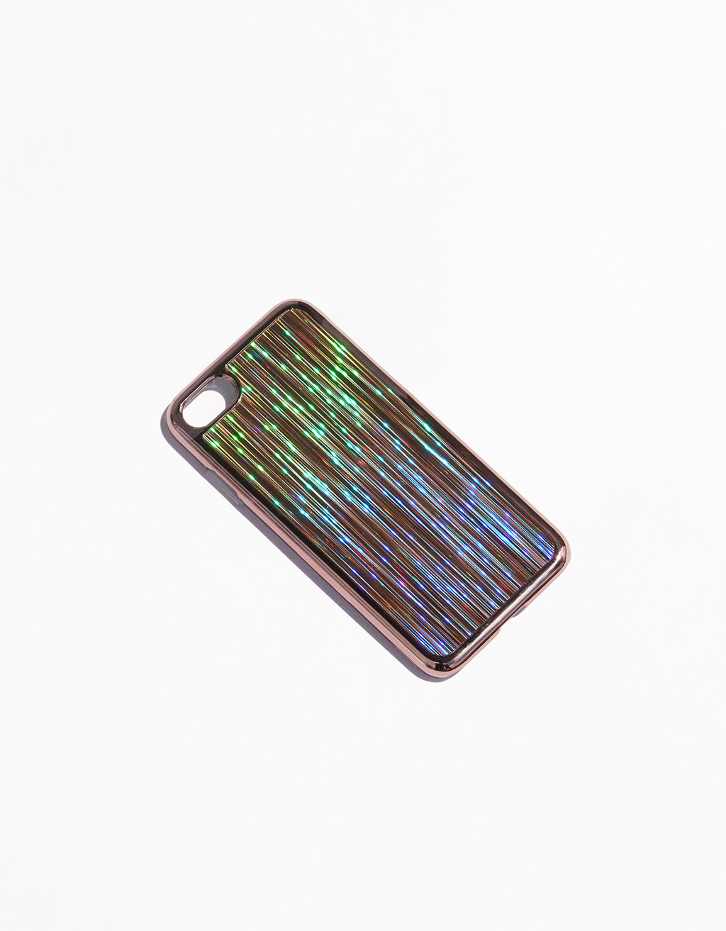 Pink gold holographic iPhone 7 case