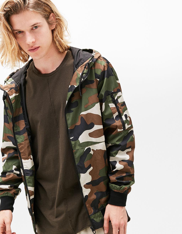 Bershka camouflage jacke herren
