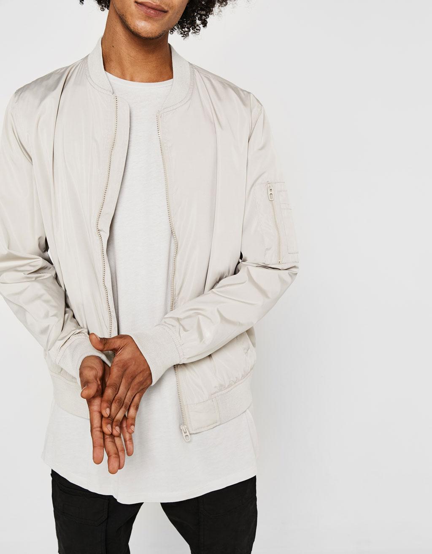 Fine bomber jacket