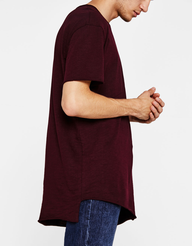 Asimetrična majica s prorezima