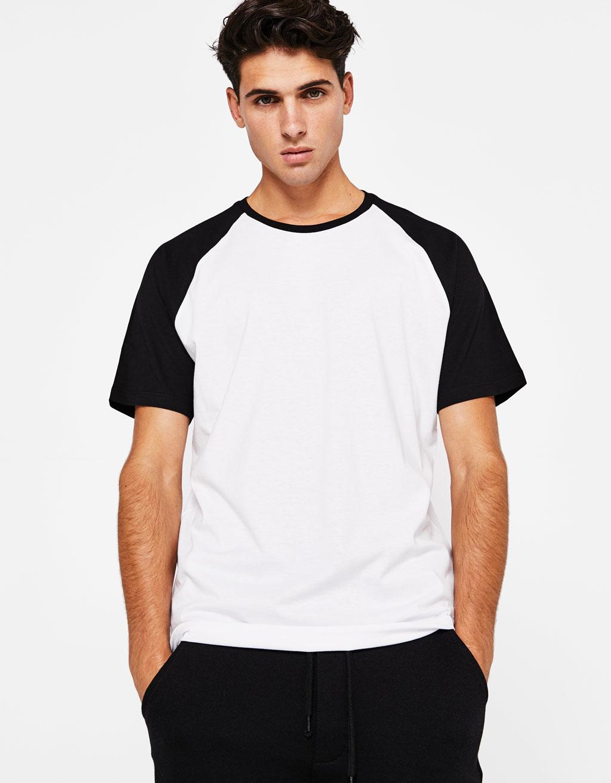 베이스볼 스타일 반팔 티셔츠