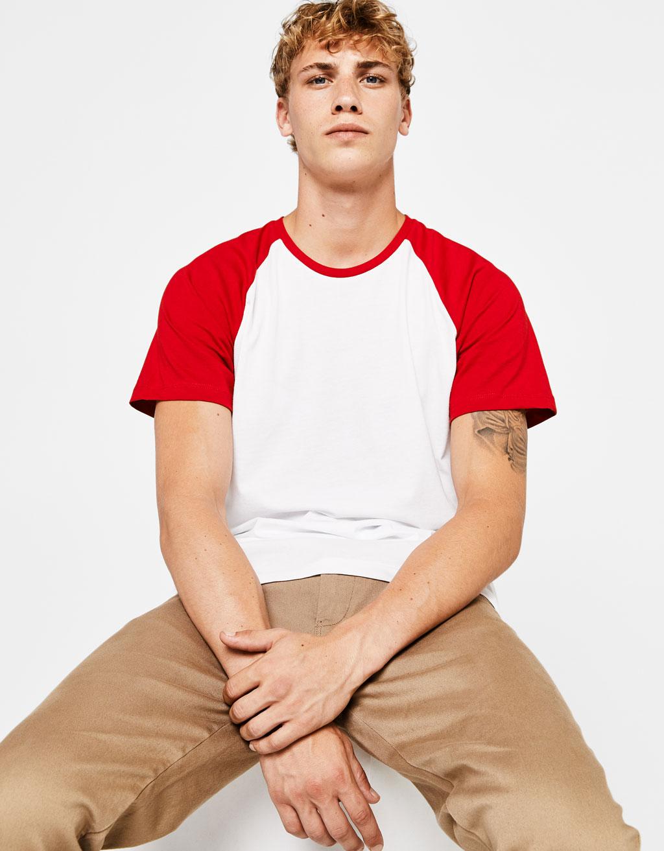 Бейзболна тениска с къс ръкав