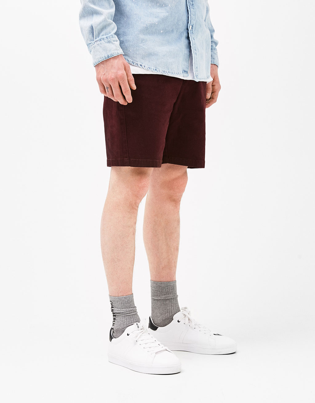 Straight fit bermuda shorts