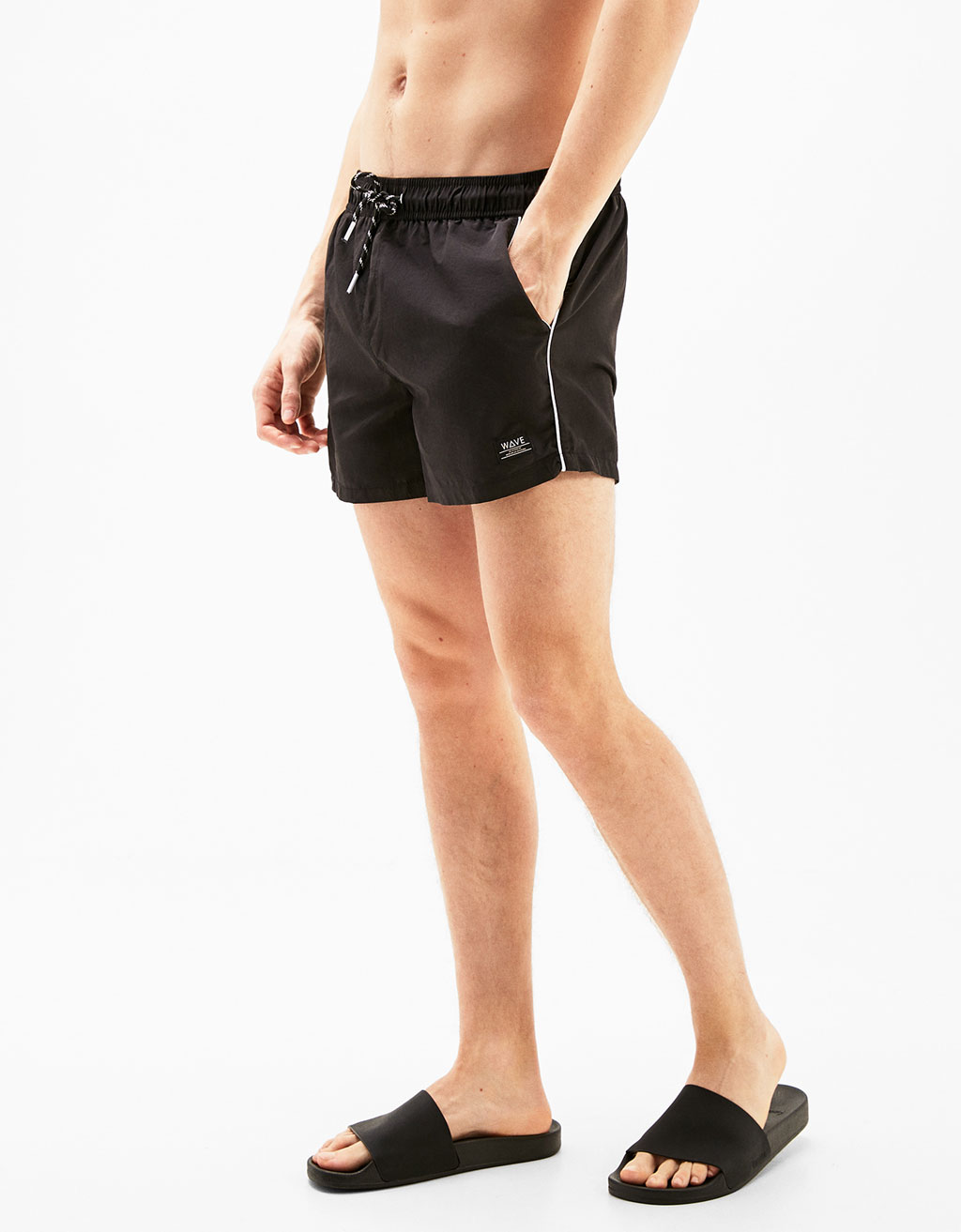 Swim shorts with contrast edging
