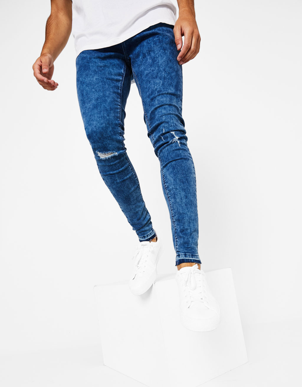 Super Skinny-Jeans im Washed-Look