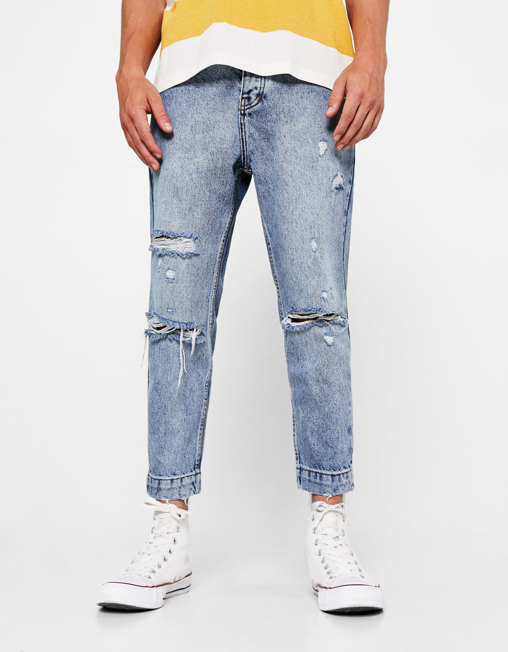 Ripped loose fit jeans