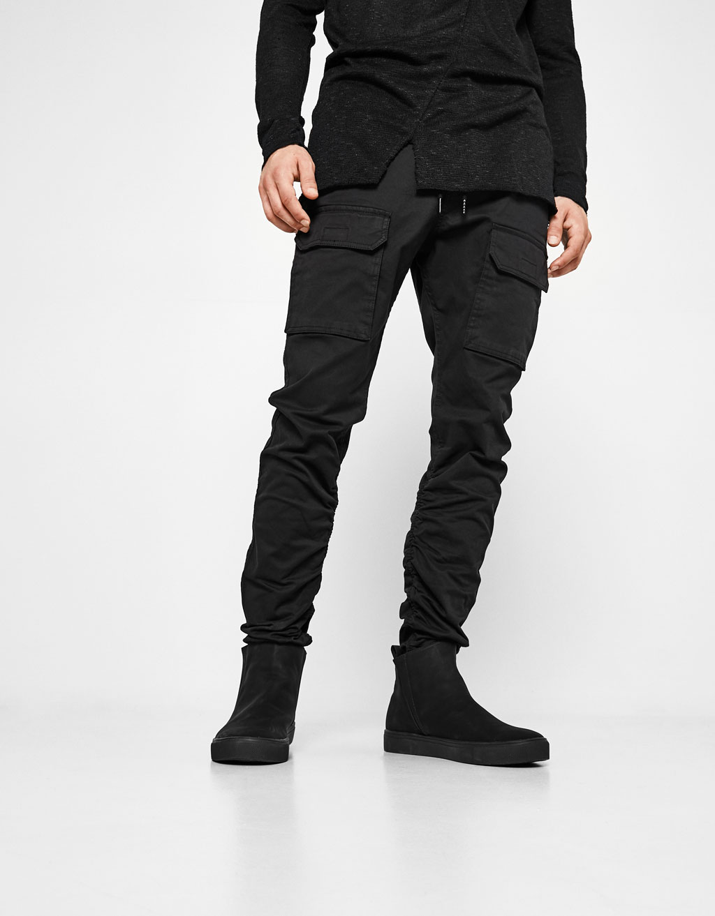 Jogging trousers with gathered hems