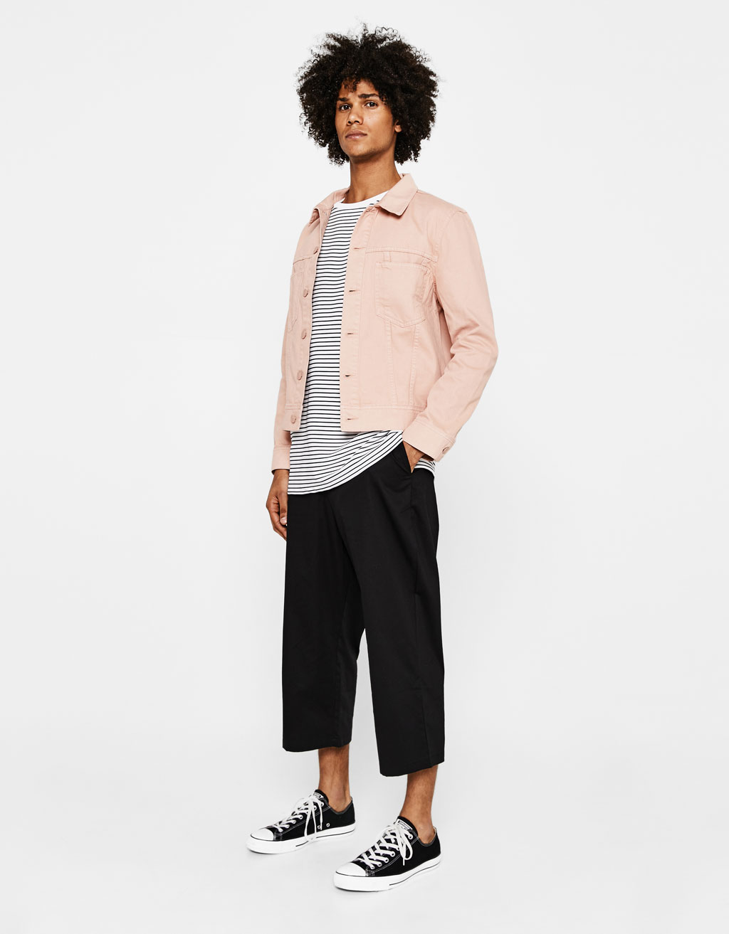 Cropped loose-fitting chinos