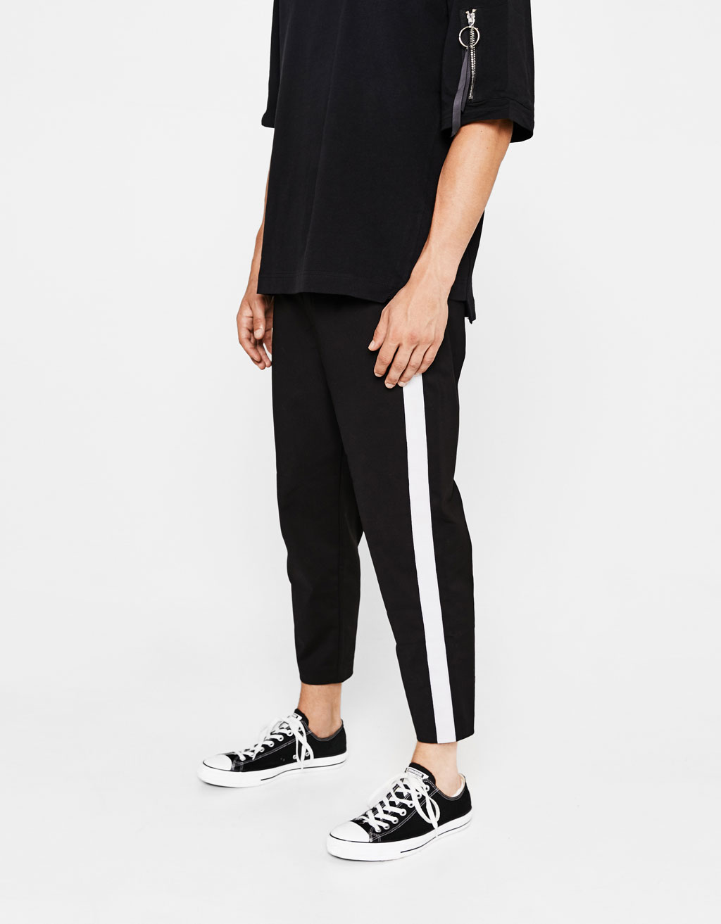 Technical pants with side stripes