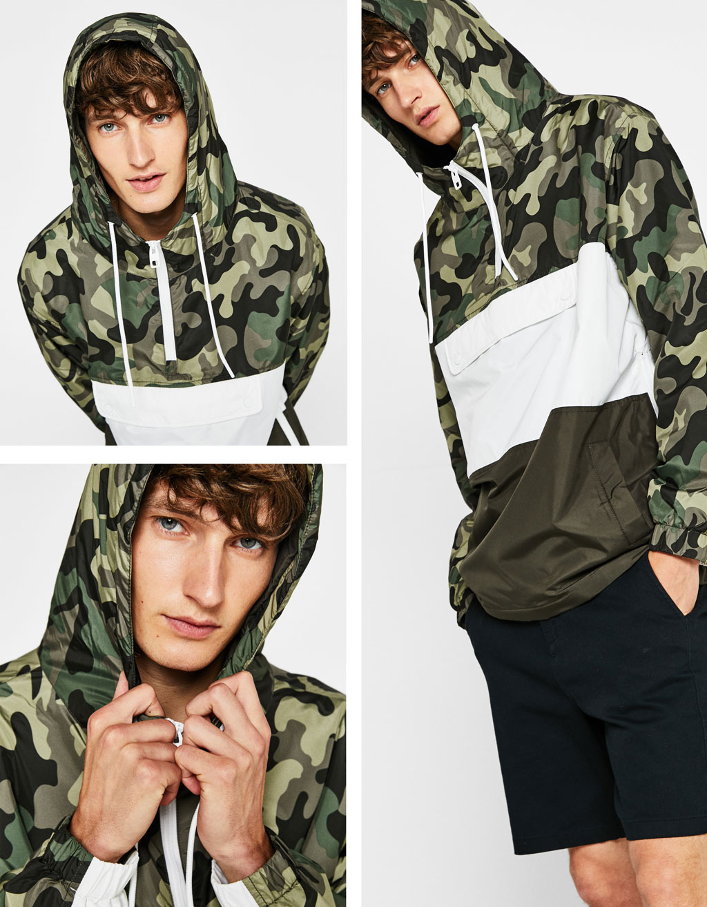 Camouflage jacket with pouch pocket