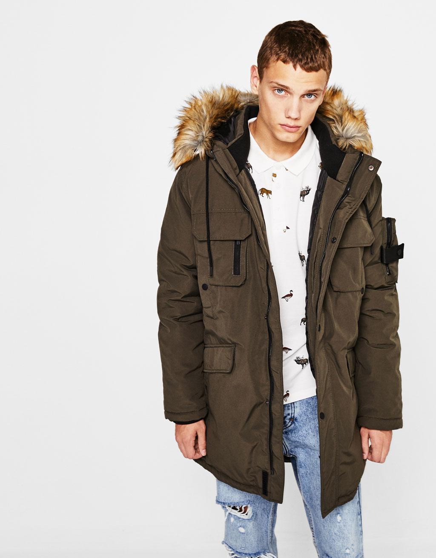 Parka-jakke med hætte