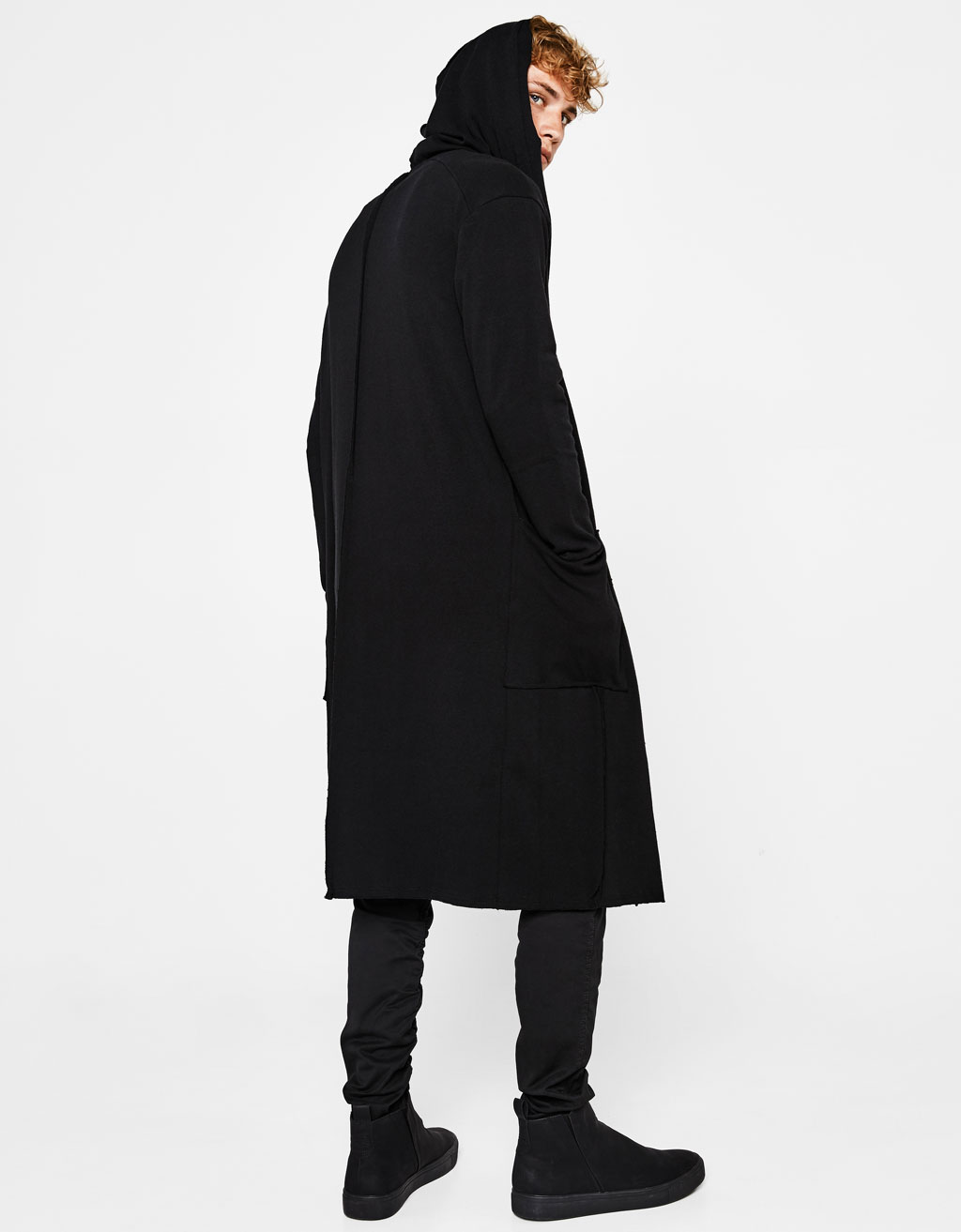 Long jacket with hood