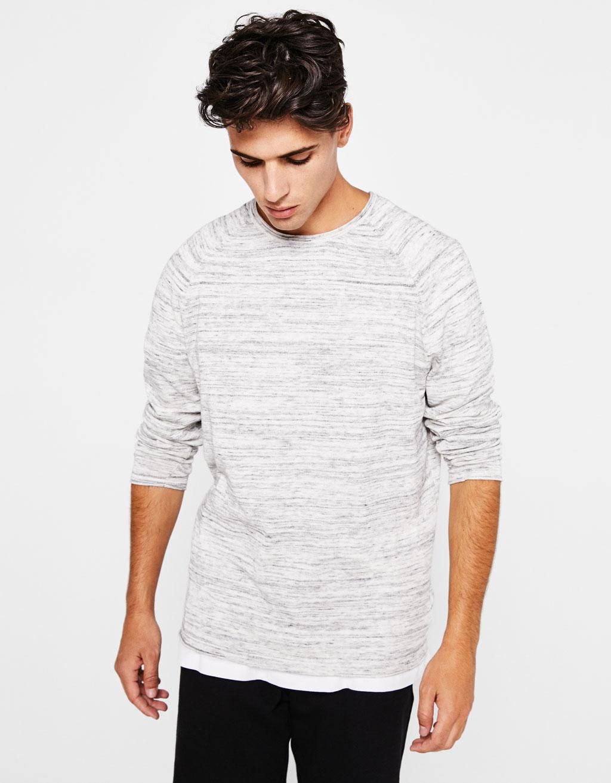 Flecked round neck sweater