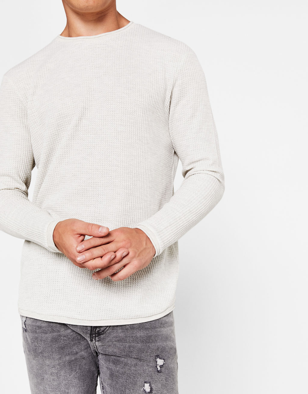 Pullover aus Microwaffle-Baumwolle