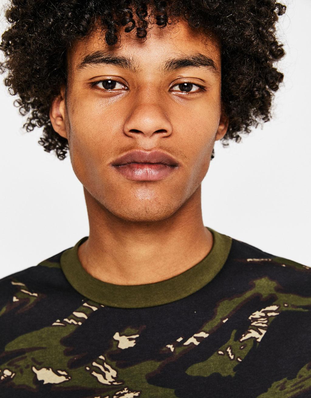 Camouflage print sweatshirt