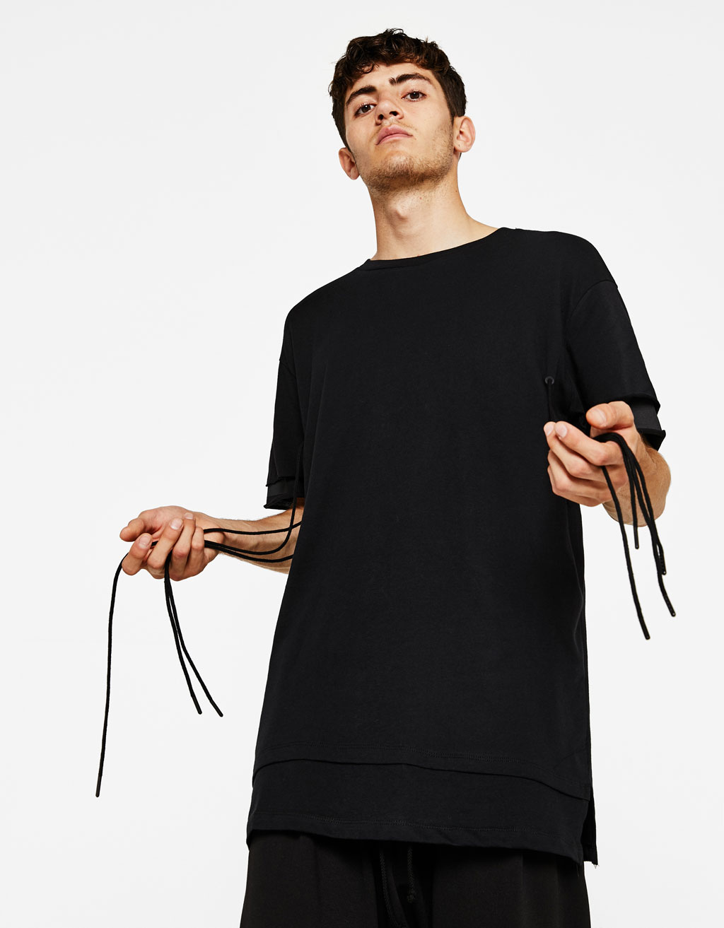 T-shirt with string detail
