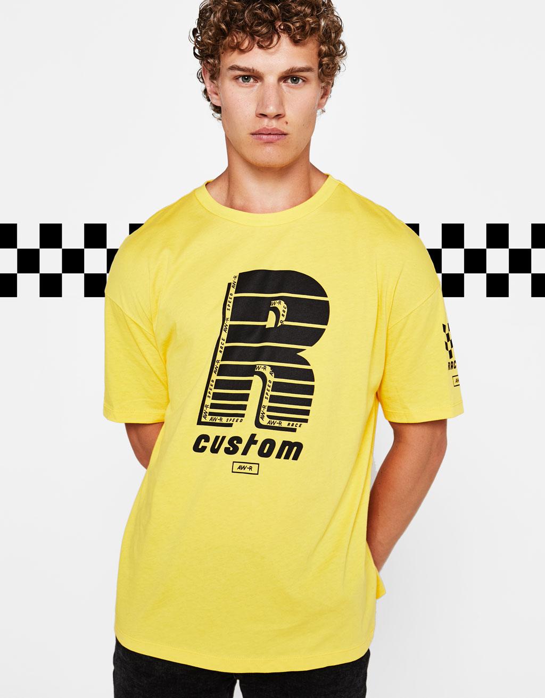Mønstret t-shirt