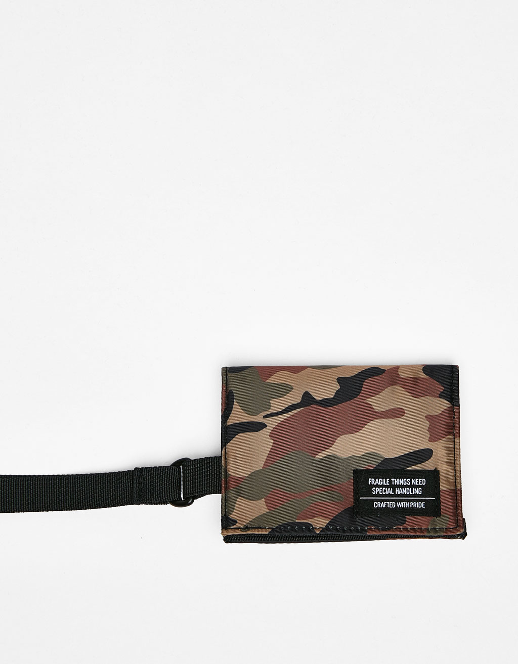 Camouflage print coin purse