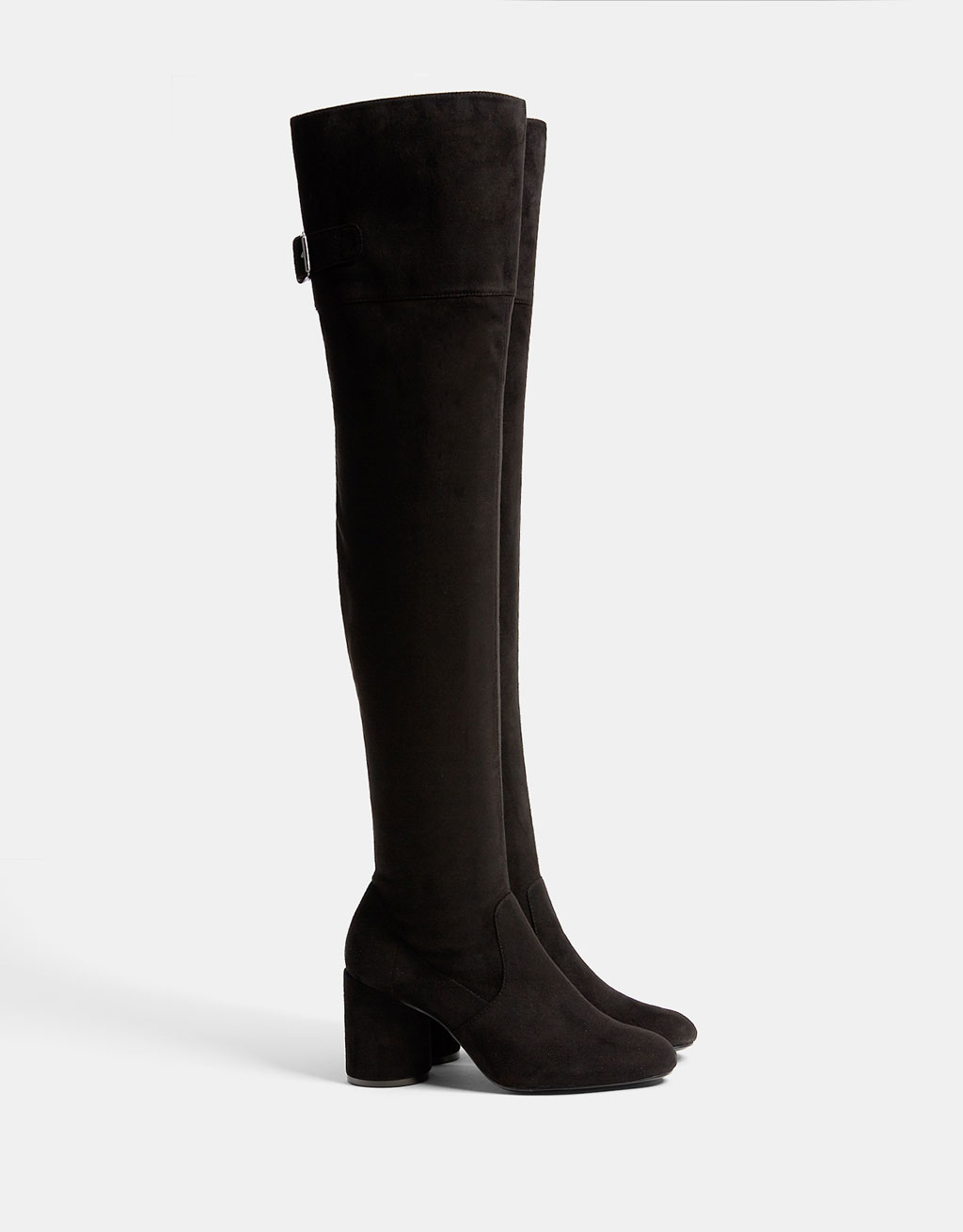 Mid heel over-the-knee boots