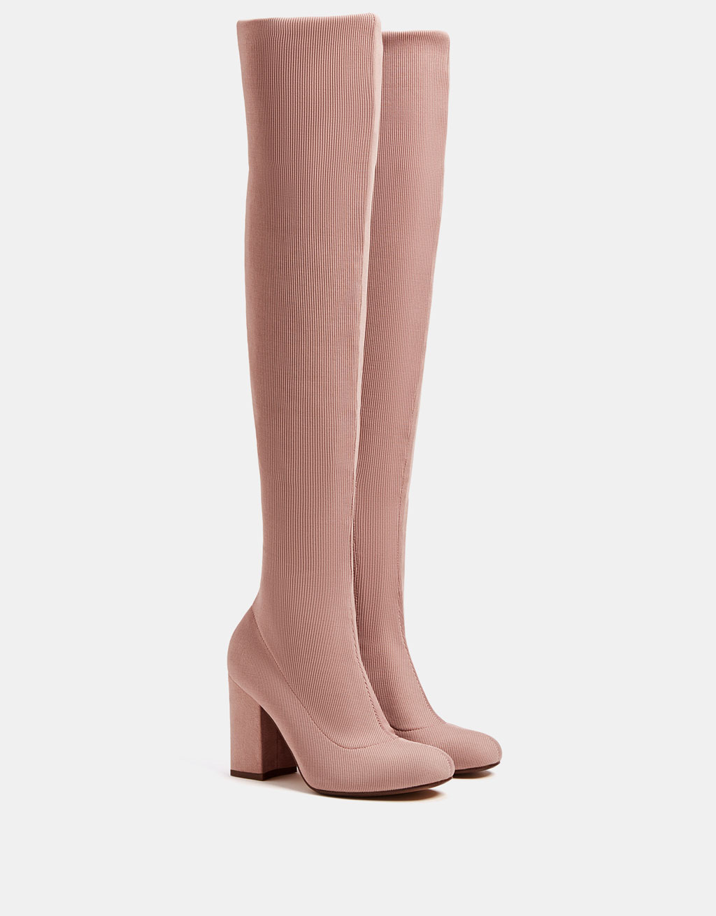 Elastic high heel over-the-knee boots