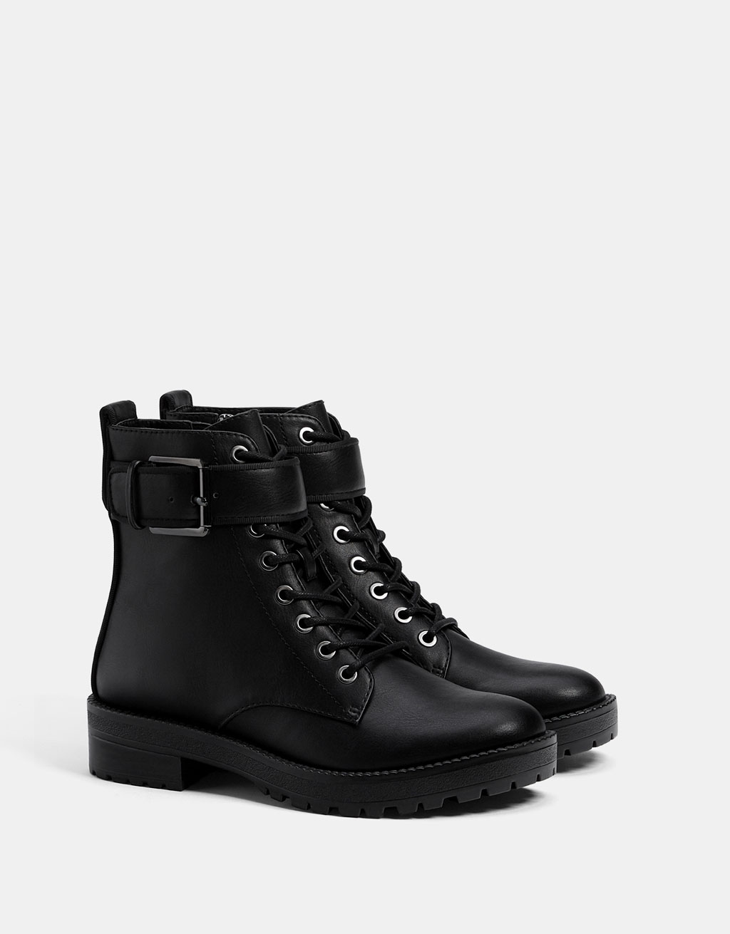 Biker ankle boots with buckles