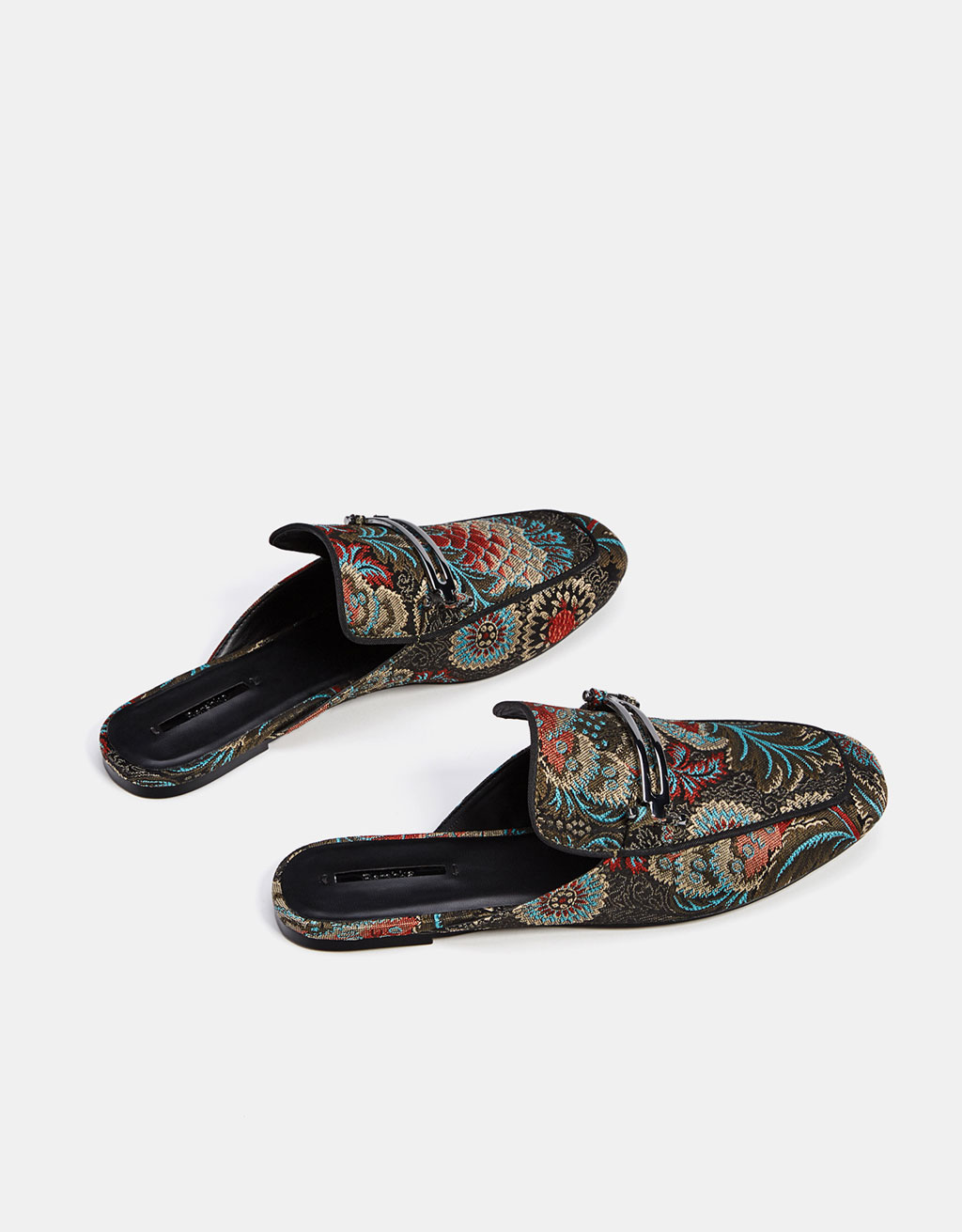 Embroidered mule loafers