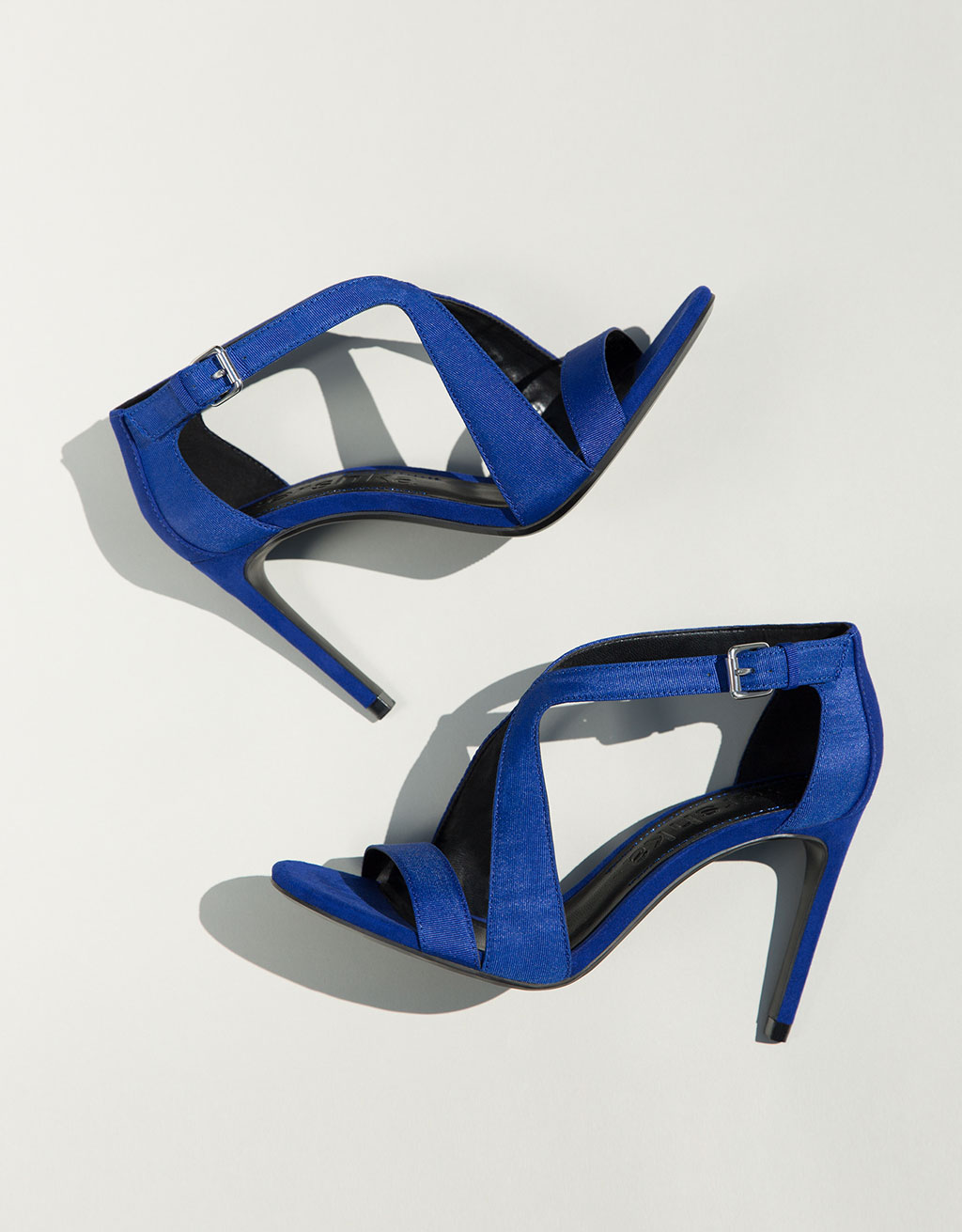 High-heeled crossover sandals