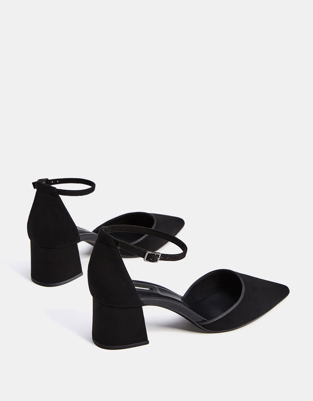 Mid-heel shoes with ankle straps