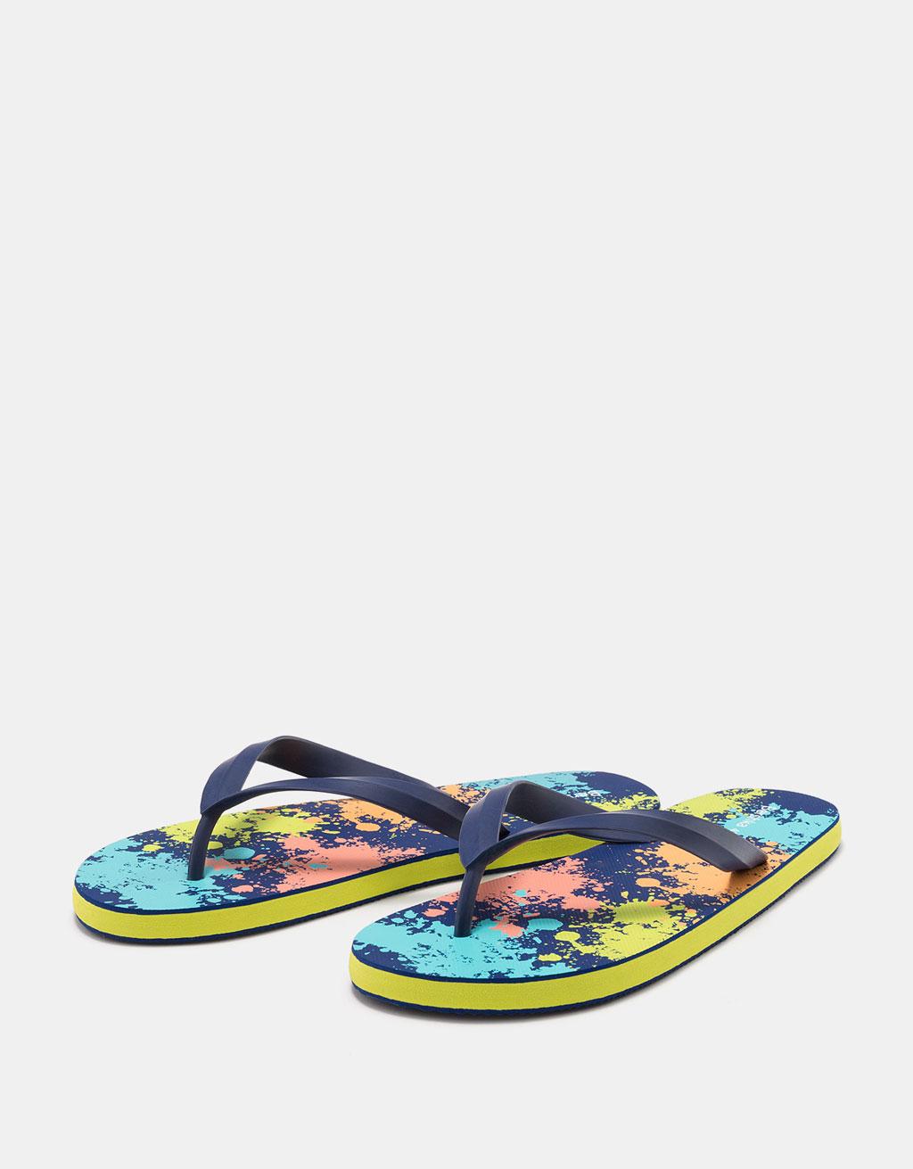 Bainurako sandalia koloreaniztunak, gizonezkoentzat