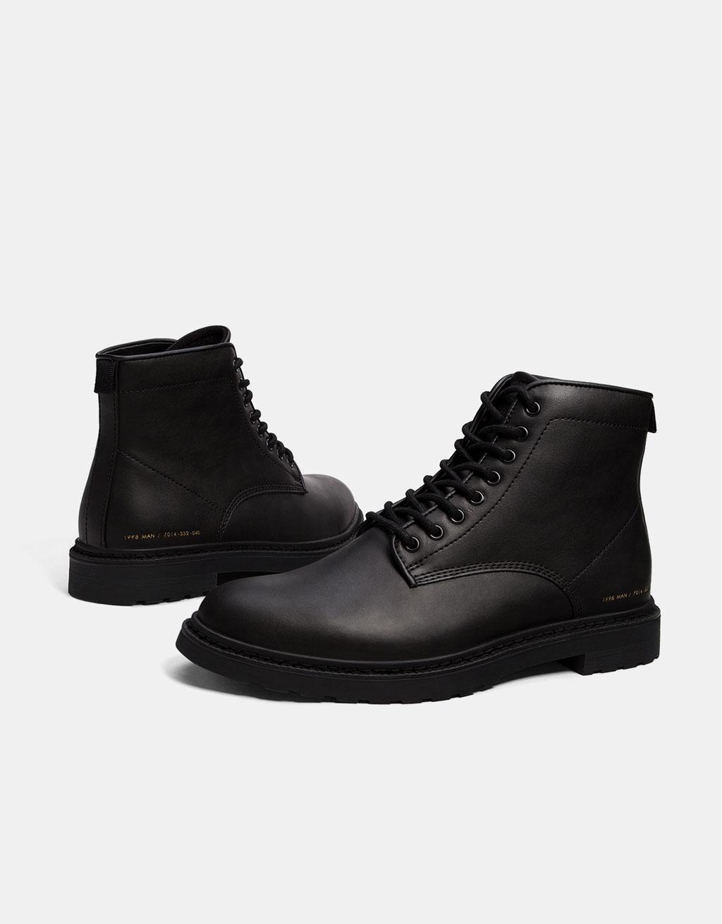 Smart men's lace-up boots