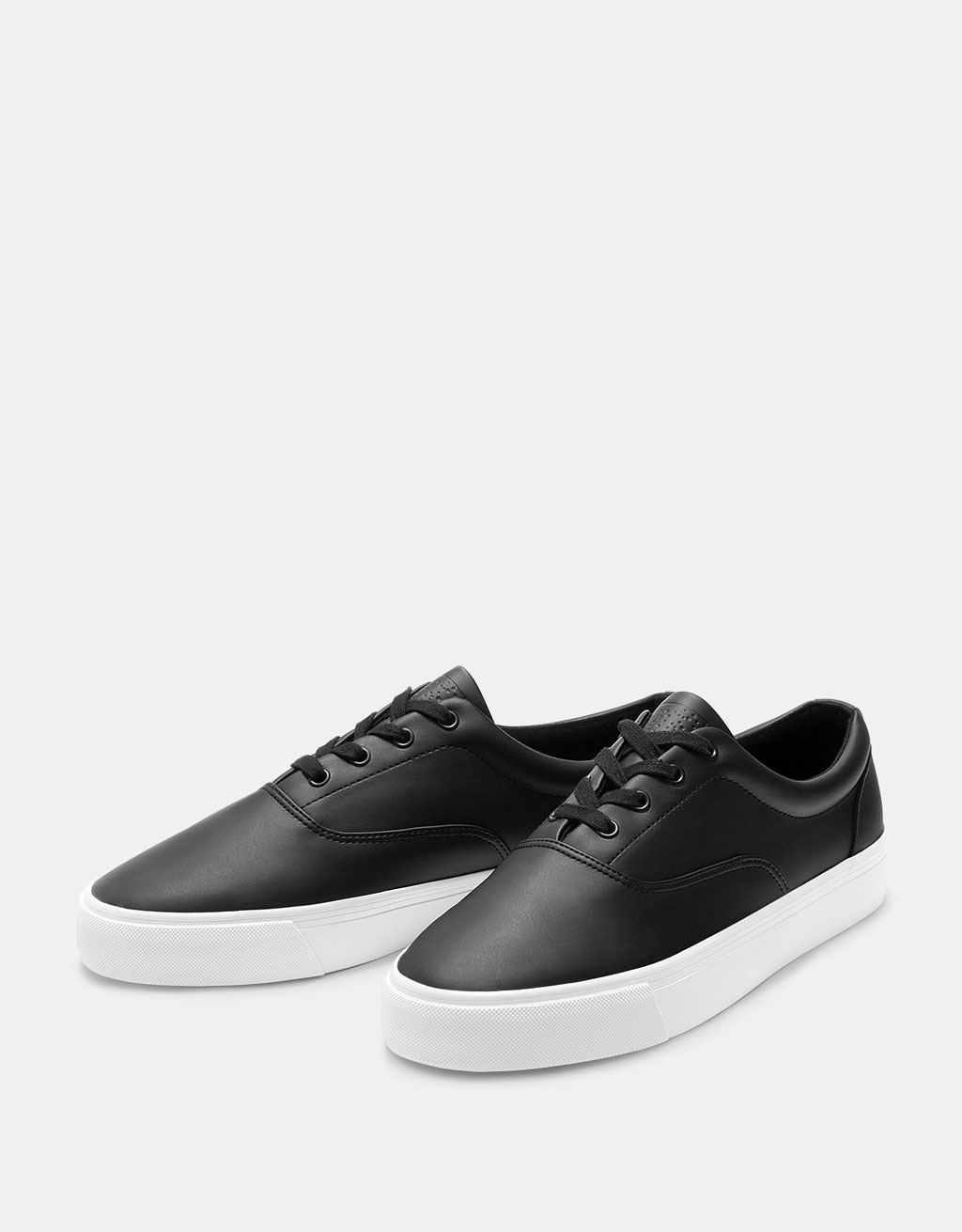 Men's casual black sneakers