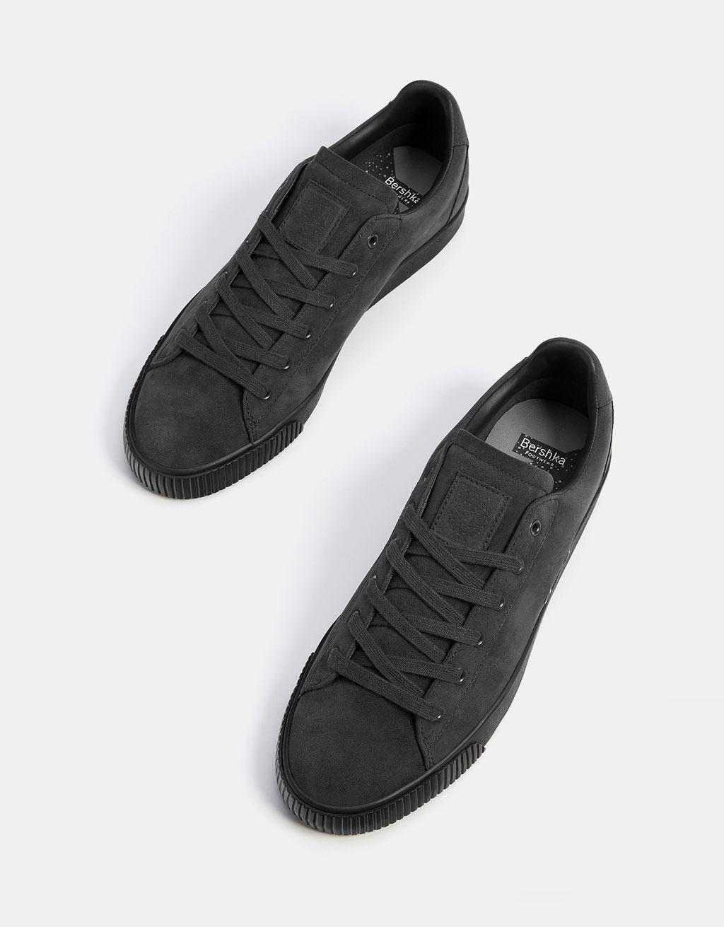 Men's monochrome fabric sneakers