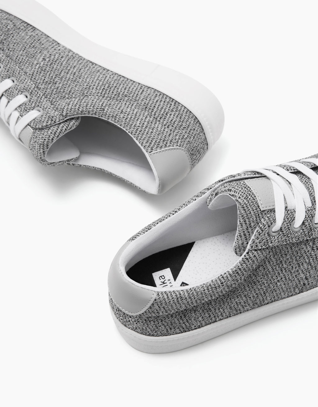 Men's flecked fabric sneakers