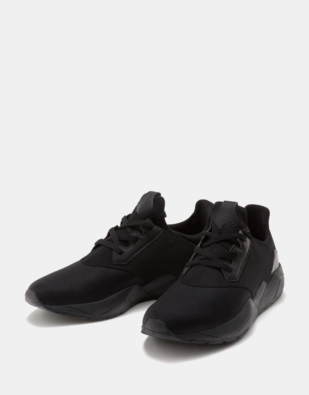 Men's technical contrast mesh sneakers