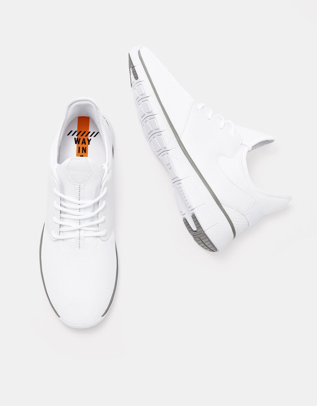 Sneakers tecniche combinate a retina uomo