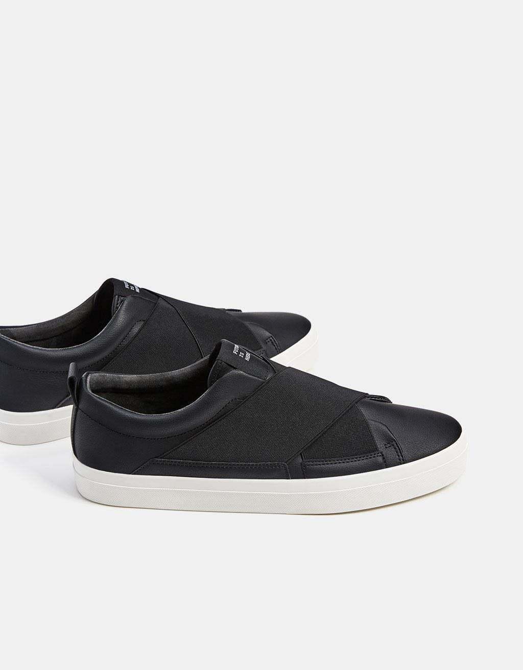 Men's no-lace elastic sneakers