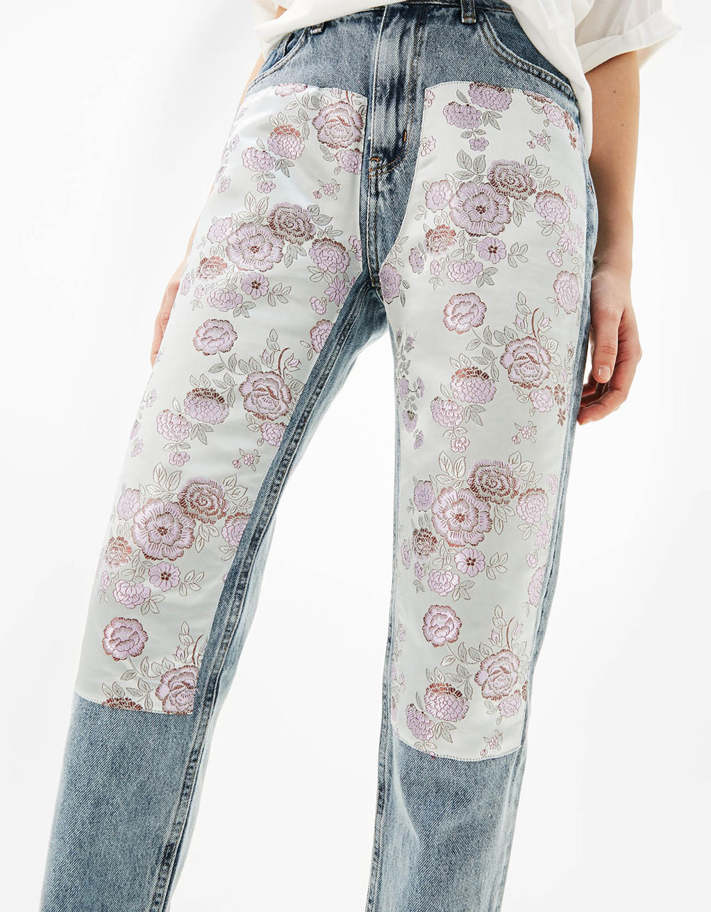 Jeans Mom Fit jacquard