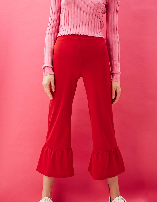 Pantalons cropped volants