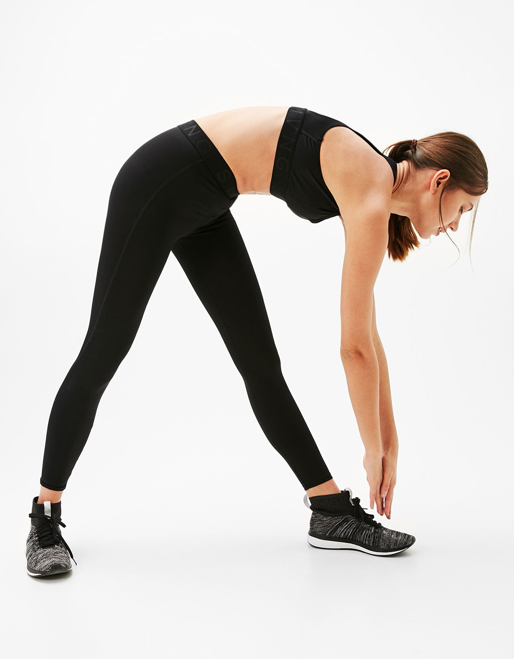 Sport leggings with elastic rubber