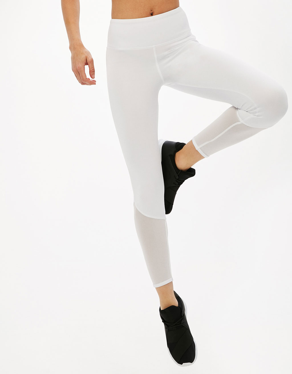 White technical sports leggings