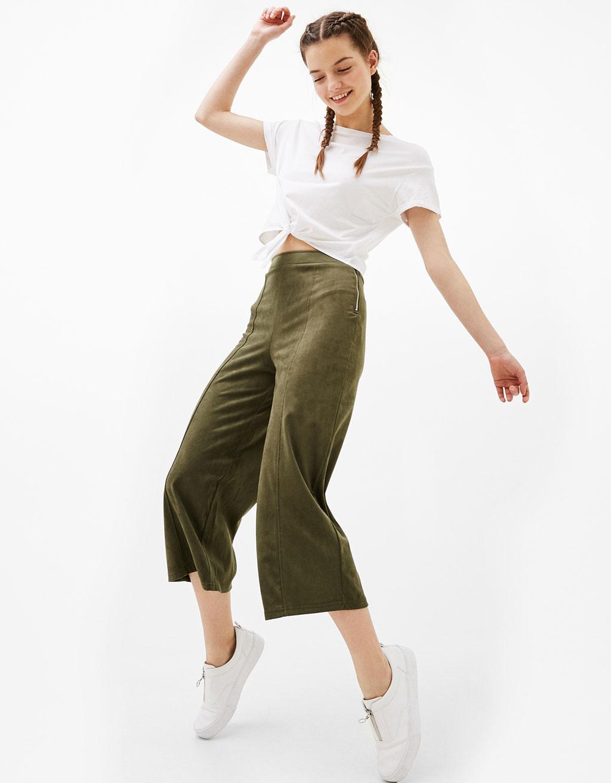 Pantalons culotte antelina