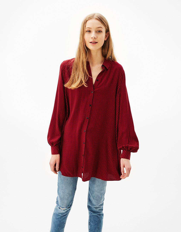 A line shirt dress