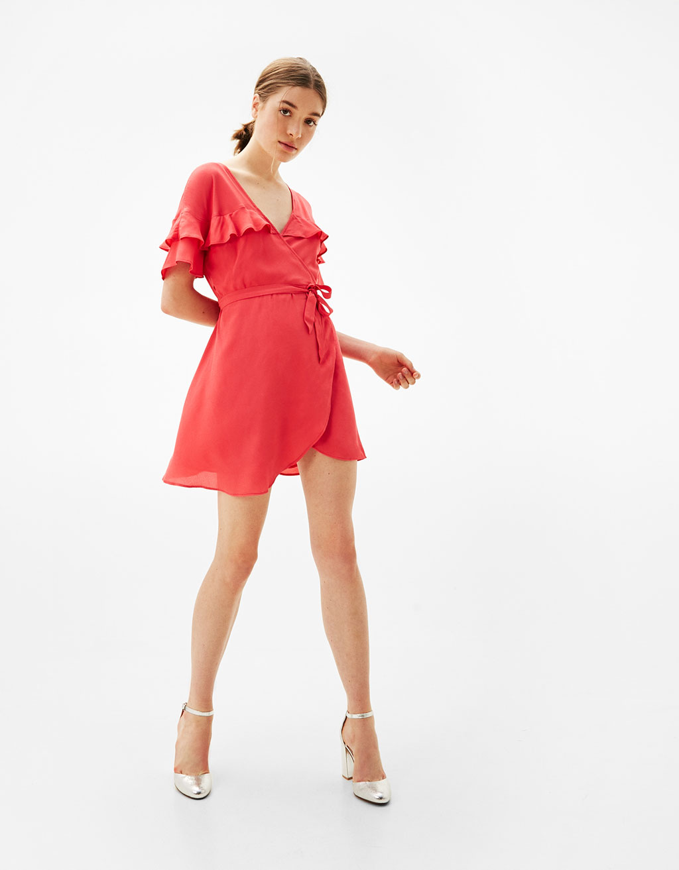 Short ballerina dress with frills