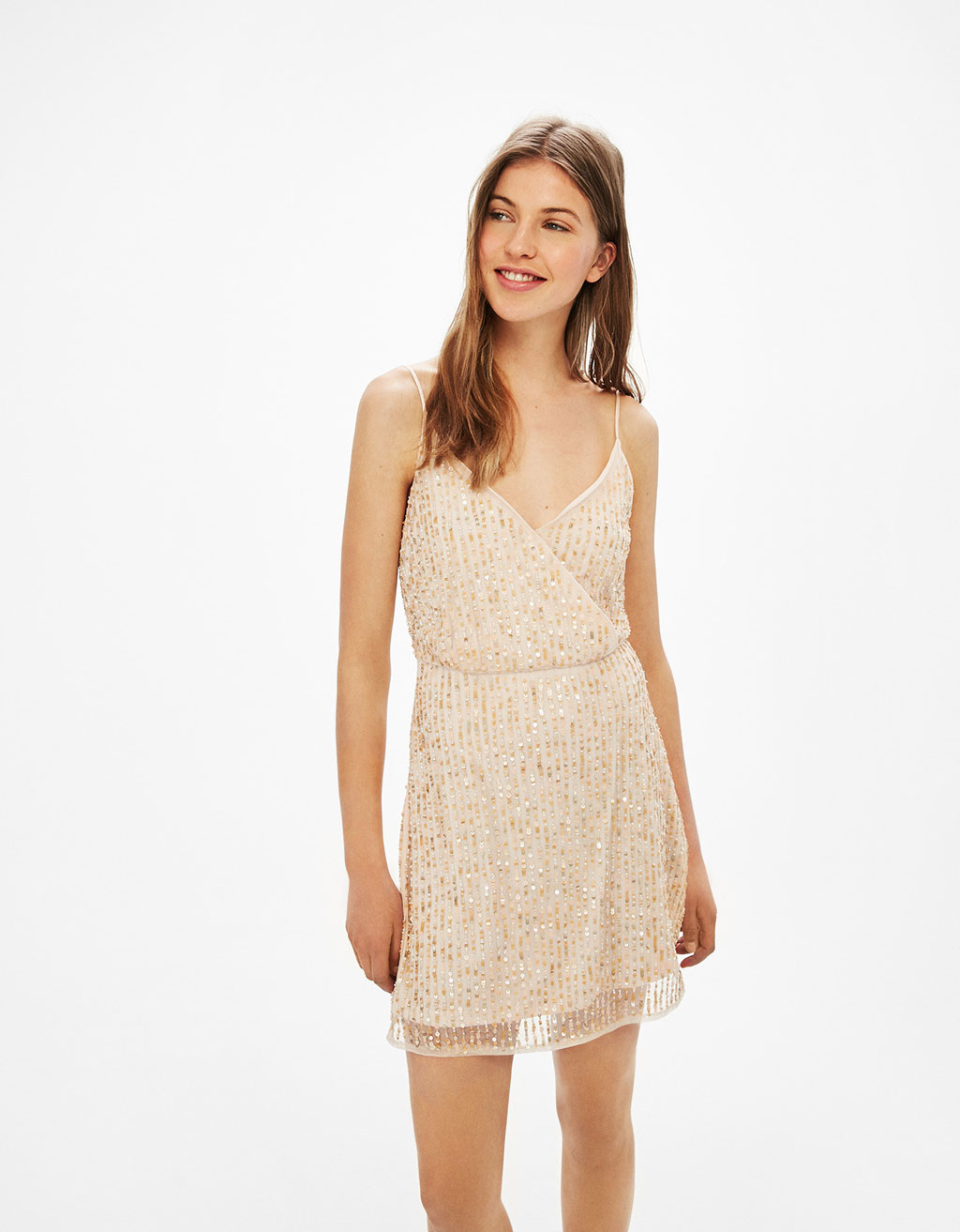 Strappy sequinned dress